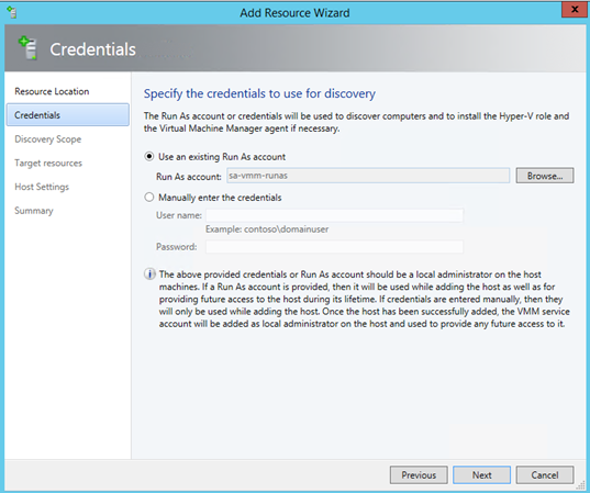 how to add the vmm service account as local administrator